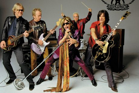 A picture of the band Aerosmith