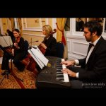 Wedding ceremony trio: Piano, cello and violin from Sonata Strings